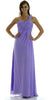 Long One Shoulder Chiffon Semi Formal Dress Lilac One Shoulder