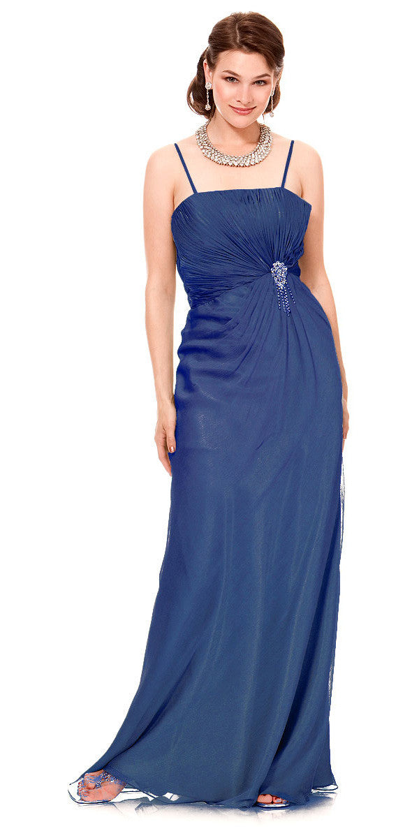 On Special Limited Stock Long Royal Blue Semi Formal Eveing Dresss