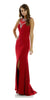ON SPECIAL LIMITED STOCK - Long Sleeveless ITY Formal Gown Red Sexy Front Slit