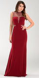 ON SPECIAL LIMITED STOCK - Luxurious Floor Length Formal Gown Burgundy High Neck Beading