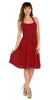 Modest Multi Chiffon Halter Strap Burgundy Semi Formal Dress Short