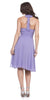Modest Multi Chiffon Halter Strap Lilac Semi Formal Dress Short