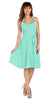 Modest Multi Chiffon Halter Strap Mint Semi Formal Dress Short
