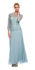 Plus Size Chiffon/Lace Mother Bride Dress Light Blue