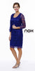 Plus Size Class Reunion Dress Royal Blue Knee Length Includes Jacket
