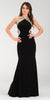 Poly USA 7192 Full Length Sexy Prom Gown Black Sheath