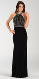 Poly USA 7194 Sexy Red Carpet Long Gown Black Keyhole Bodice