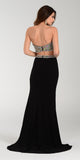 ON SPECIAL LIMITED STOCK - Poly USA 7318 Sexy Slit Long Prom Dress Black Strapless
