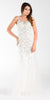 Poly USA 7322 Long Mermaid Prom Dress Off White Sleeveless