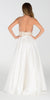 ON SPECIAL LIMITED STOCK - Poly USA 7330 White Gold Sequin Top Prom Dress Long Satin A Line