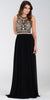 ON SPECIAL LIMITED STOCK - Poly USA 7384 Floor Length Formal Gown Black Beaded Top
