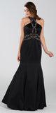 Poly USA 7388 Mermaid Halter Prom Dress Black Choker Strap
