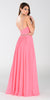 ON SPECIAL LIMITED STOCK - Poly USA 7408 Long Flowy Chiffon A Line Prom Dress Coral