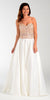 ON SPECIAL LIMITED STOCK - Poly USA 7434 Satin A Line Prom Dress Off White Strapless