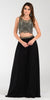 ON SPECIAL LIMITED STOCK - Poly USA 7442 Chiffon 2 Piece Prom Gown Black Beaded Top