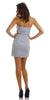 ON SPECIAL LIMITED STOCK - Ruched Strapless Straight Neckline White Bodycon Dress
