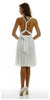 Short Convertible Jersey Dress Ivory 20 Different Looks