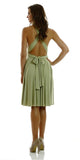 Poly USA 7020 Short Convertible Jersey Dress Green 20 Different Looks Back View