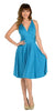 Short Convertible Jersey Dress Teal 20 Different Looks