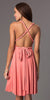 Short Convertible Jersey Dress Coral 20 Different Looks