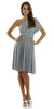 Short Convertible Jersey Dress Gray 20 Different Looks