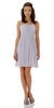 Short Sleeveless Chiffon Bridesmaid Dress Silver Illusion Neck