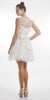 Sleeveless Bateau Neckline Flared Off White Lace Dress