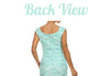 Two Tone Mint Ivory Overlay Short Lace Dress Wide Strap