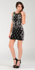 ON SPECIAL LIMITED STOCK - Above The Knee Black Dress Cocktail Ornate Beading Sleeveless