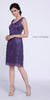 Plus Size Class Reunion Dress Violet Knee Length Includes Jacket