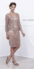 Plus Size Class Reunion Dress Blush/Tan Knee Length Includes Jacket