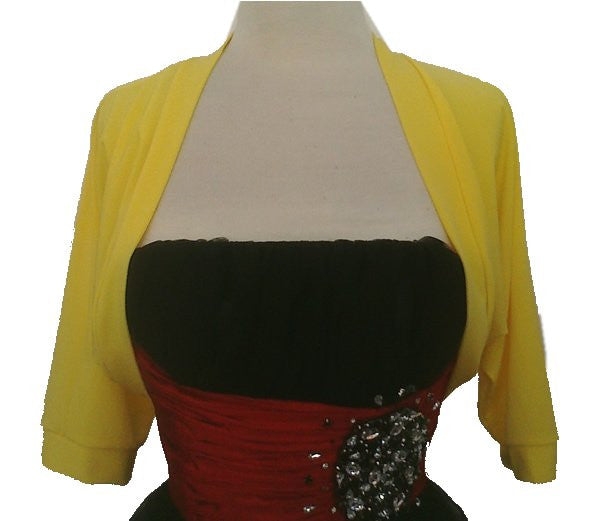 Mid Length Black Georgette Bolero Jacket Bridal Wedding Jacket