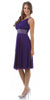 Lavender Knee Length Cruise Dress chiffon One Shoulder W/Jacket