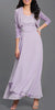 Long Empire Chiffon Dress Lilac Matching Bolero Lace Top