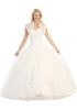 Corset Bodice Strapless A Line Off White Long Ball Gown