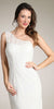 One Shoulder Ivory/Ivory Short Lace Chevon Dress Includes Bolero Jacket