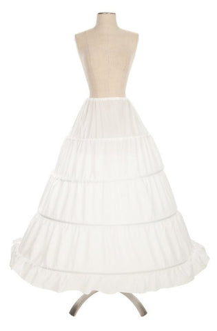 4 Ring White Petticoat Underskirt Hoop For Cinderella Gown