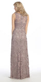 Plus Size Floor Length Lace Evening Gown Mocha Wide Straps