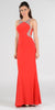 Poly USA 7192 Full Length Sexy Prom Gown Red Sheath