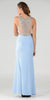 Poly USA 7192 Full Length Sexy Prom Gown Blue Sheath