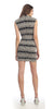 Sexy Short Sheath Cocktail Dress Black Gold Metallic ITY