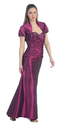 ON SPECIAL - LIMITED STOCK - Magenta Formal Dress Long Formal Fancy Sweetheart Ruch Gathered Tight