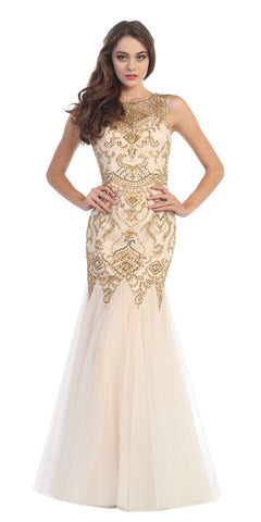 Juliet 644 Sweetheart Neckline Mermaid Style Prom Gown Gold