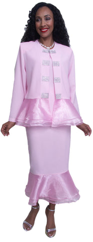Hosanna 3602 - Pink Church Choir Dress Set Tea Length