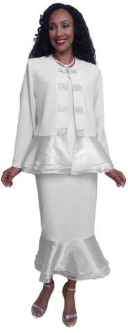 Hosanna 3602 - White Church Choir Dress Set Tea Length
