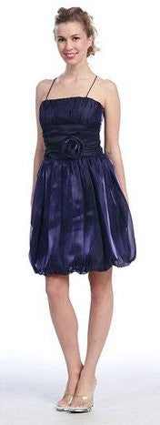 Eggplant Bubble Dress Eggplant Graduation Party Empire Waist Flower