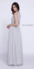 Sleeveless Chiffon Bridesmaid Dress Silver Long Lace Bodice
