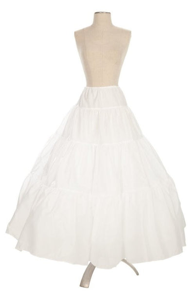 4 Ring White Petticoat Underskirt Hoop For Dress Gown Taffeta