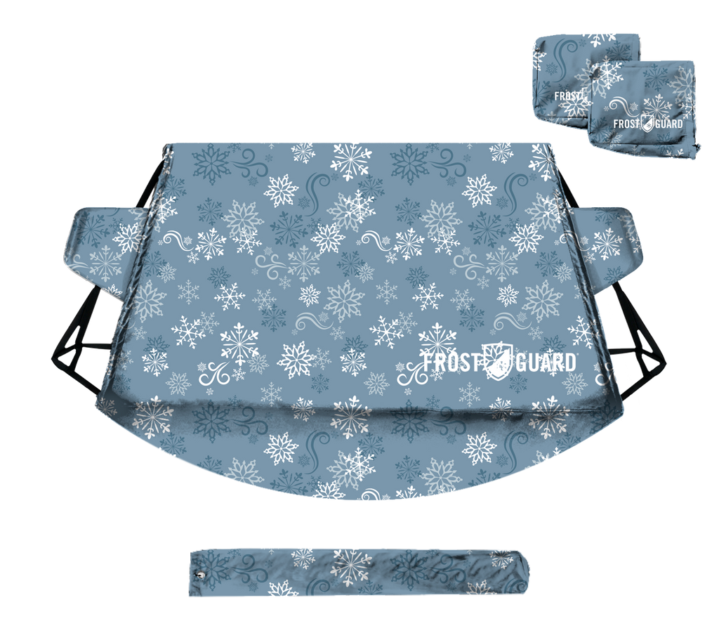 Protects from Snow Ice and Frost Security Panels and Wiper Blade Cover Mirror Covers Frostguard Plus Winter Windshield Weather Resistant Standard, Indigo