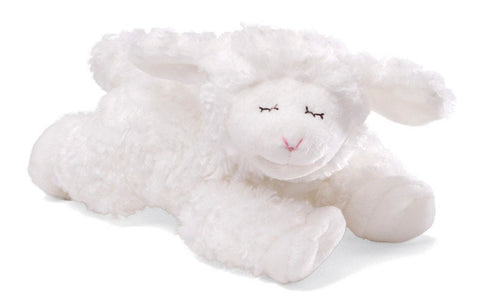 "Winky the White Lamb Rattle - 7"" - Baby Gund"